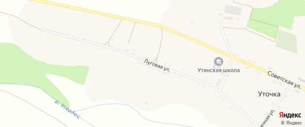 Луговая улица на карте села Уточки с номерами домов