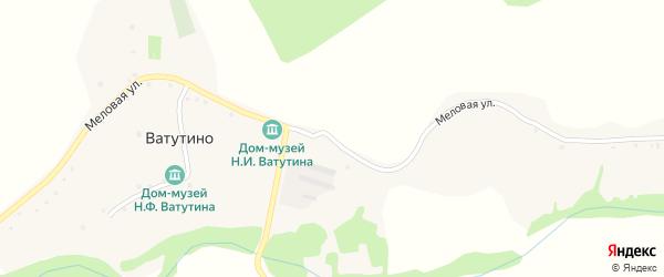 Меловая улица на карте села Ватутино с номерами домов