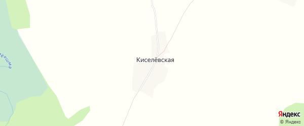 Карта Киселевская деревни в Архангельской области с улицами и номерами домов
