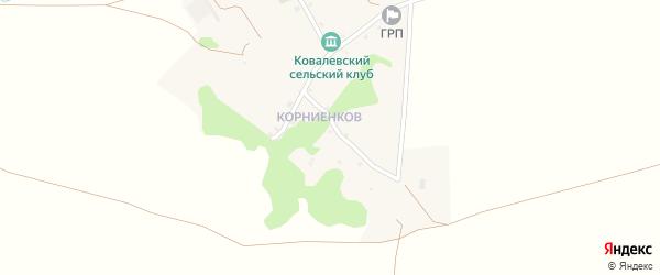 Солнечный переулок на карте хутора Ковалева с номерами домов