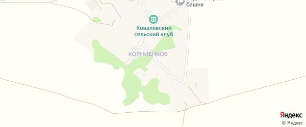 Улица Пушкина на карте хутора Ковалева с номерами домов