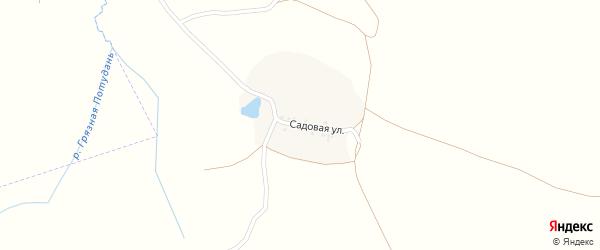 Садовая улица на карте хутора Шидловки с номерами домов