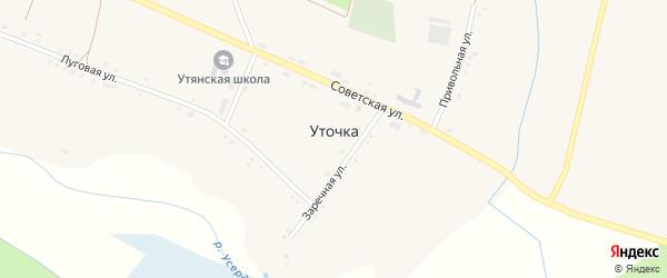 Привольная улица на карте села Уточки с номерами домов