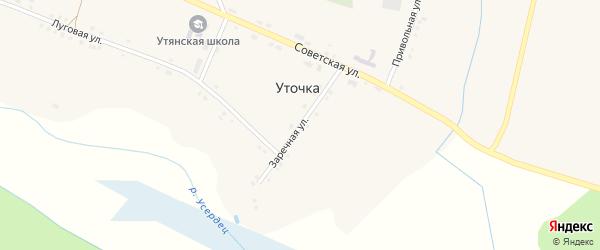 Заречная улица на карте села Уточки с номерами домов