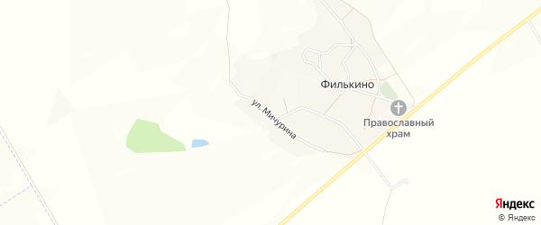 Карта хутора Филькина в Белгородской области с улицами и номерами домов
