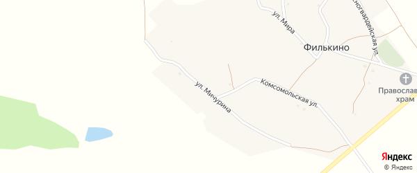 Красногвардейская улица на карте хутора Филькина с номерами домов