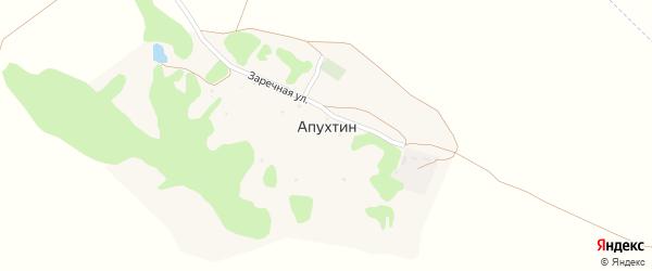 Заречная улица на карте хутора Апухтина с номерами домов