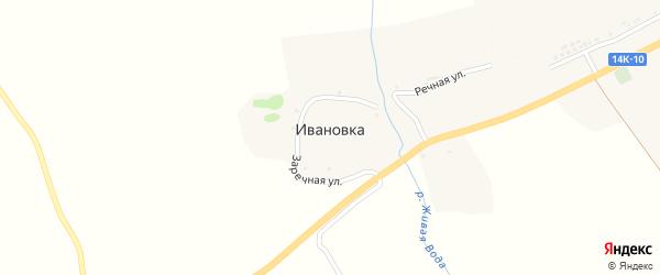 Заречная улица на карте села Ивановки с номерами домов