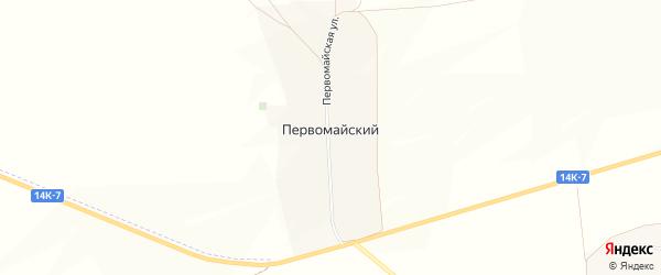 Карта Первомайского хутора в Белгородской области с улицами и номерами домов