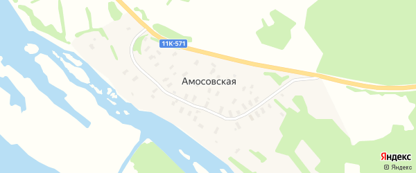 Участок Машалиха на карте Амосовской деревни с номерами домов