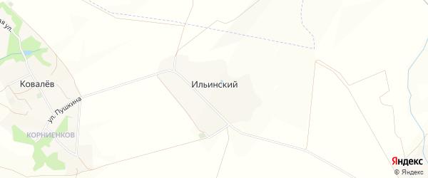 Карта Ильинского хутора в Белгородской области с улицами и номерами домов