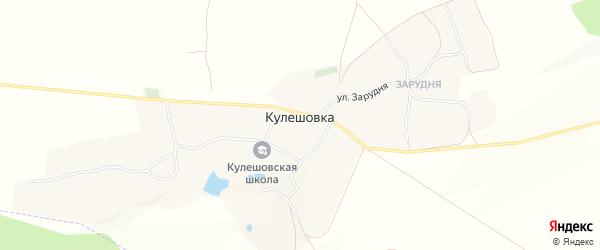 Карта села Кулешовки в Белгородской области с улицами и номерами домов