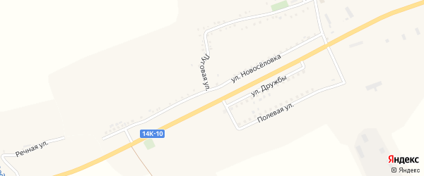 Улица Новоселовка на карте Подгорного села с номерами домов