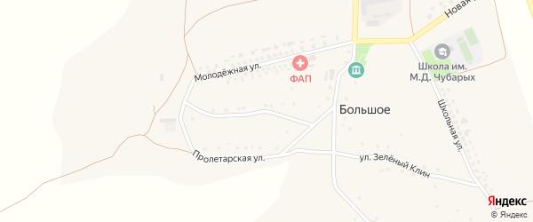 Пролетарская улица на карте Большого села с номерами домов