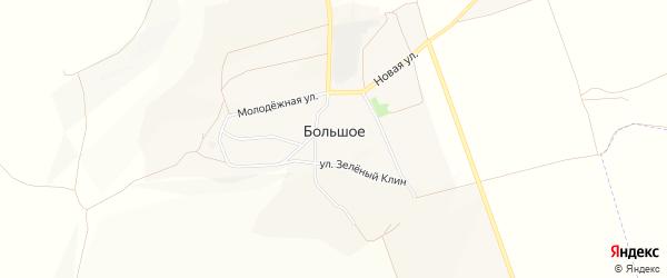 Карта Большого села в Белгородской области с улицами и номерами домов