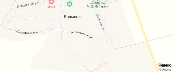 Улица Зеленый клин на карте Большого села с номерами домов