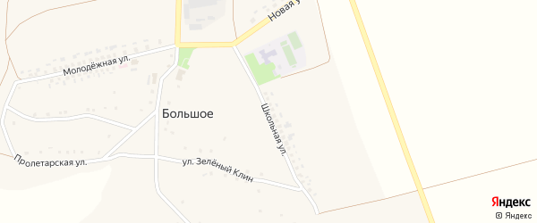 Школьная улица на карте Большого села с номерами домов