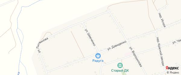 Улица Шевченко на карте села Засосны с номерами домов