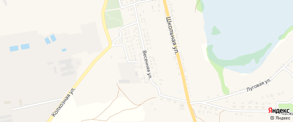 Весенняя улица на карте села Владимировки с номерами домов