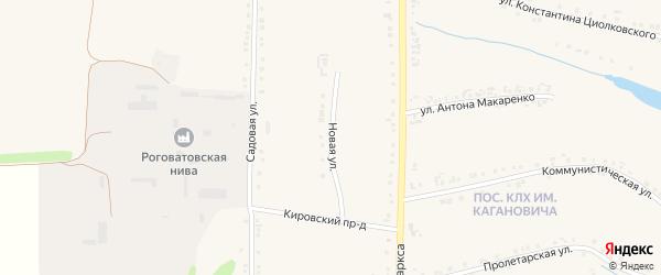 Новая улица на карте Роговатого села с номерами домов