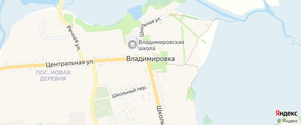 Колхозная улица на карте села Владимировки с номерами домов