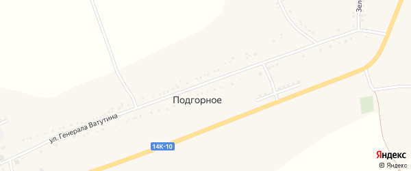 Улица Сибирчик на карте Подгорного села с номерами домов