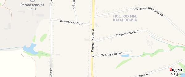 Улица Карла Маркса на карте Роговатого села с номерами домов