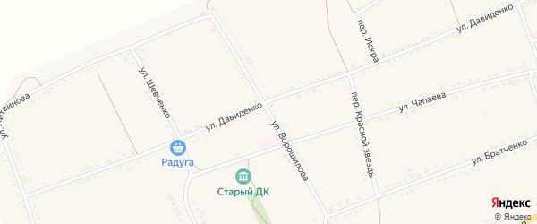 Улица Ворошилова на карте села Засосны с номерами домов
