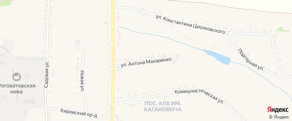 Улица Антона Макаренко на карте Роговатого села с номерами домов