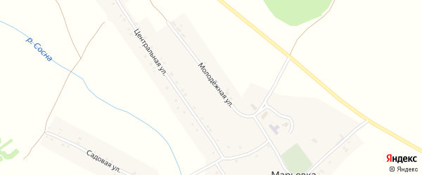 Молодежная улица на карте села Марьевка с номерами домов