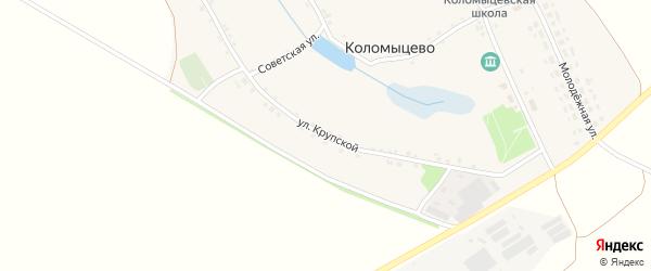 Улица Крупской на карте села Коломыцево с номерами домов