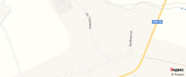 Улица Гуровка на карте Подгорного села с номерами домов