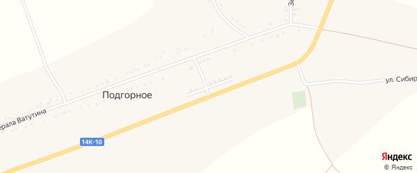 Молодежная улица на карте Подгорного села с номерами домов