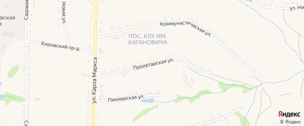 Пролетарская улица на карте Роговатого села с номерами домов