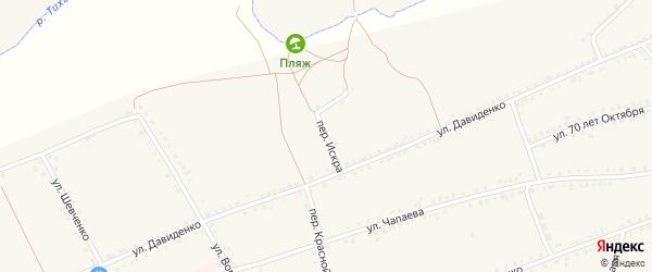 Переулок Искра на карте села Засосны с номерами домов