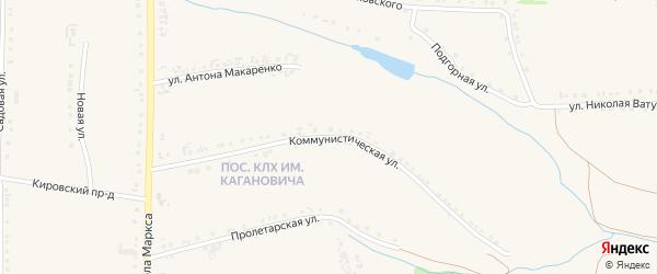 Коммунистическая улица на карте Роговатого села с номерами домов