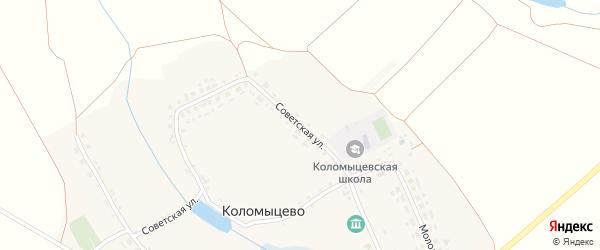 Советская улица на карте села Коломыцево с номерами домов