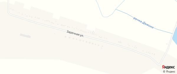 Заречная улица на карте села Клименки с номерами домов