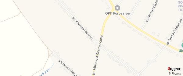 Улица Алексея Горького на карте Роговатого села с номерами домов