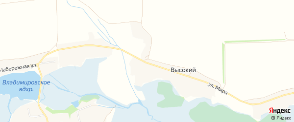 Карта Высокого хутора в Белгородской области с улицами и номерами домов