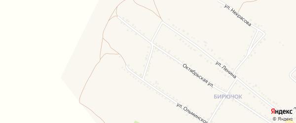 Улица Новоселовка на карте Бирюча с номерами домов