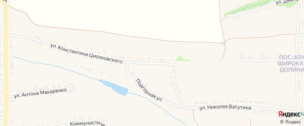 Улица Константина Циолковского на карте Роговатого села с номерами домов