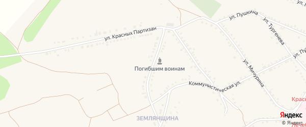 Улица Орджоникидзе на карте Бирюча с номерами домов