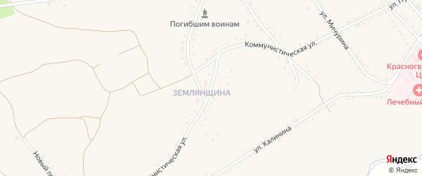 Коммунистическая улица на карте Бирюча с номерами домов