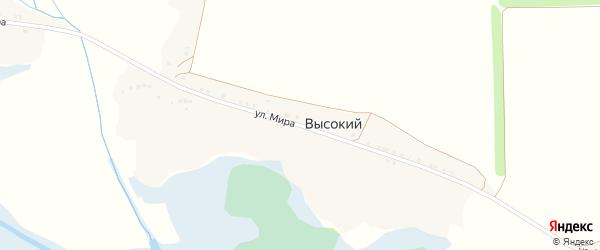 Улица Мира на карте Высокого хутора с номерами домов