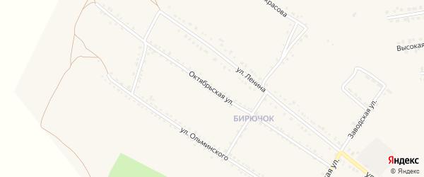 Октябрьская улица на карте Бирюча с номерами домов