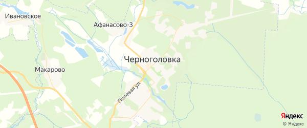 Карта Черноголовки с районами, улицами и номерами домов
