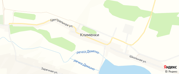 Карта села Клименки в Белгородской области с улицами и номерами домов