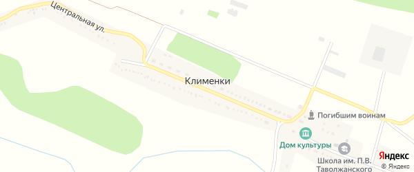 Центральная улица на карте села Клименки с номерами домов
