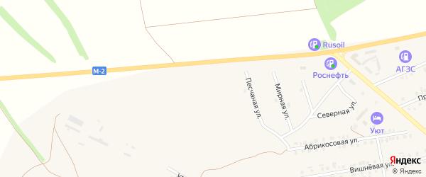 Тихая улица на карте Бирюча с номерами домов